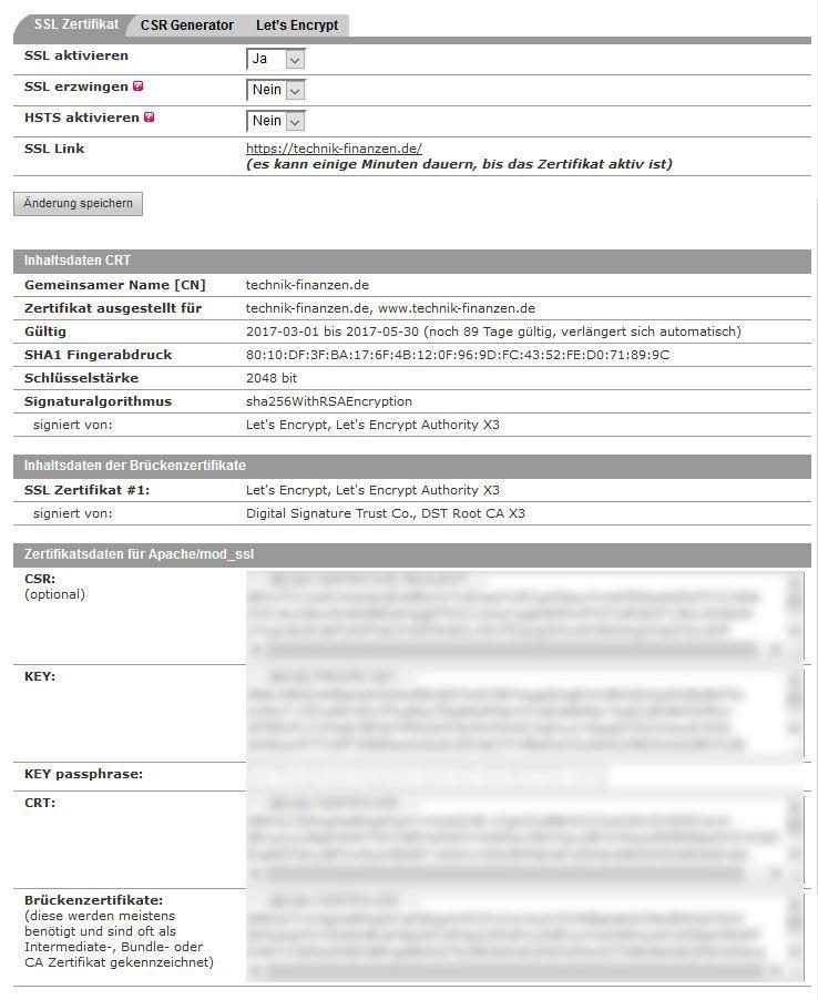 SSL Zertifikat für Wordpress mit Let\'s Encrypt und ALL-INKL.