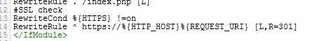 Htaccess Anpassung für SSL