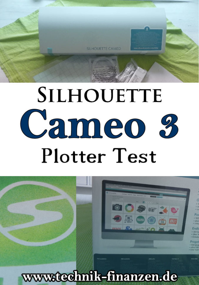 Silhouette Cameo 3 Test des Hobby Plotters