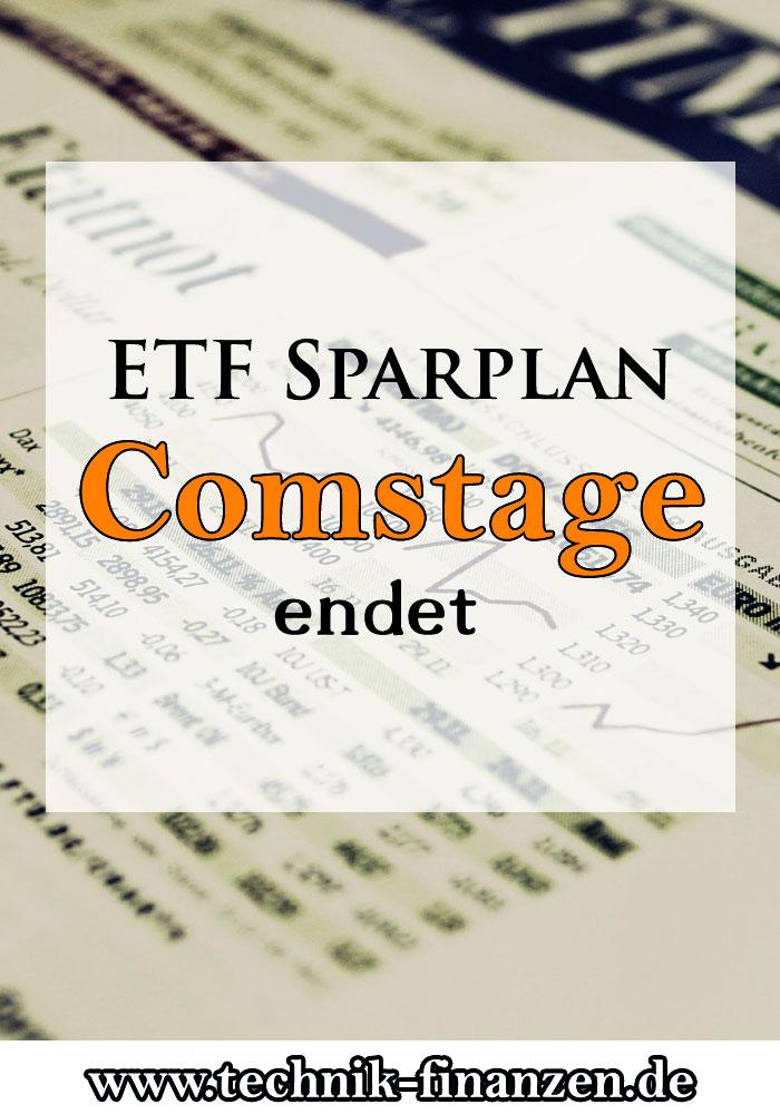 Comstage ETF Sparplan