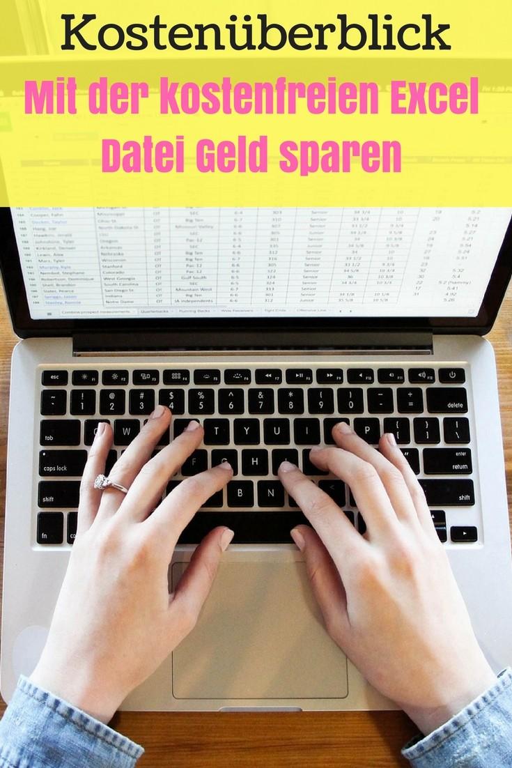 Die monatlichen kosten im Überblick behalten und dabei Geld sparen. Mit der kostenlosen Excel Datei kein Problem mehr. Haushaltsbuch