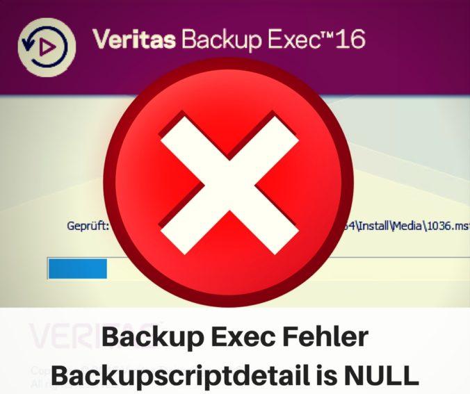 Backupscriptdetail is Null