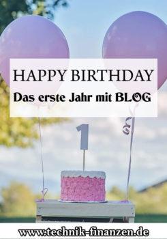 1 Jahr Blog