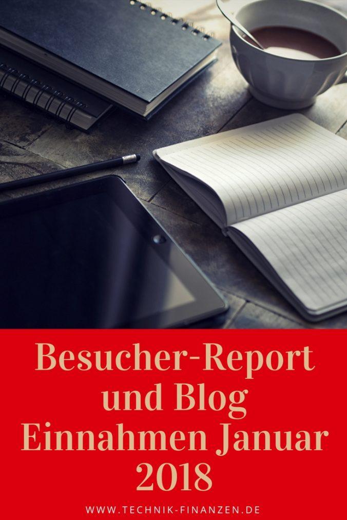 Besucher Report Januar 2018 Blog Einnahmen