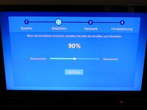 Setup Wizard der TV Box Bqeel M9Cmax mit Android