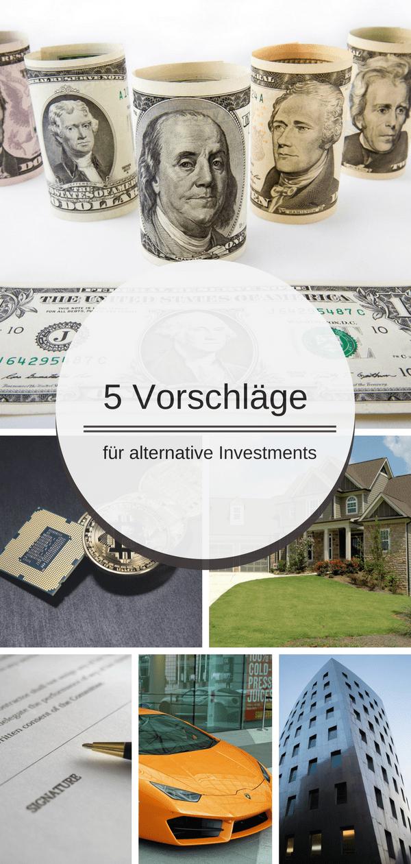 Im heutigen Artikel zeige ich 5 Wege für alternative Investments um sein Geld zu investieren.
