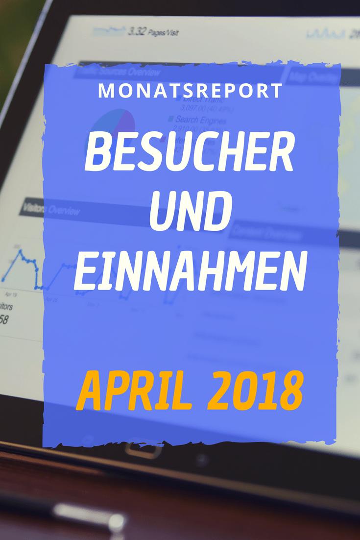 Im April 2018 konnte ich endlich die Besucherzahlen in die höhe Treiben und die Einnahmen verdreifachen.