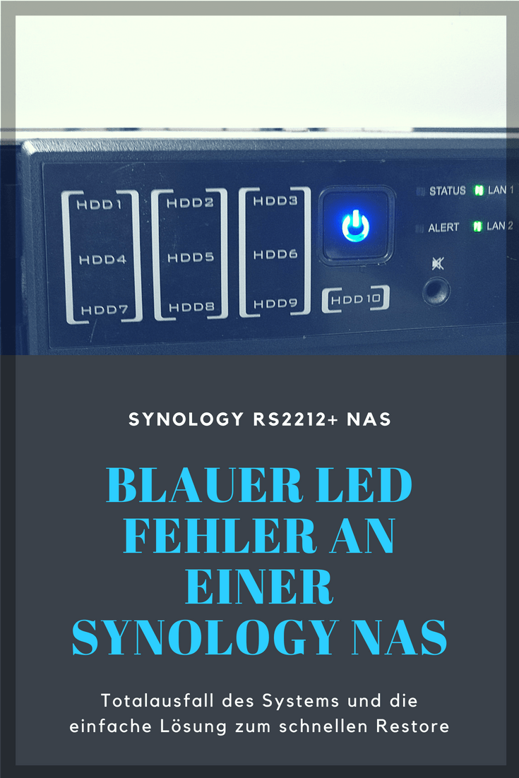 Die Synlology NAS fährt nicht mehr hoch und das Webinterface ist nicht erreichbar. Hier die mögliche Lösung für das Problem