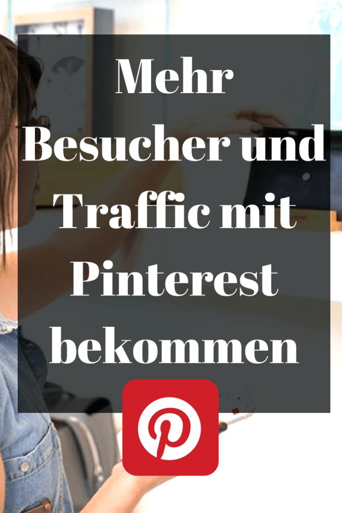 Mit Pinterest mehr Besucher bekommen? Ja das geht. Ich zeige in meinem Artikel wie ich meine Besucherzahlen nur durch Pinterst verzehnfachen konnte.