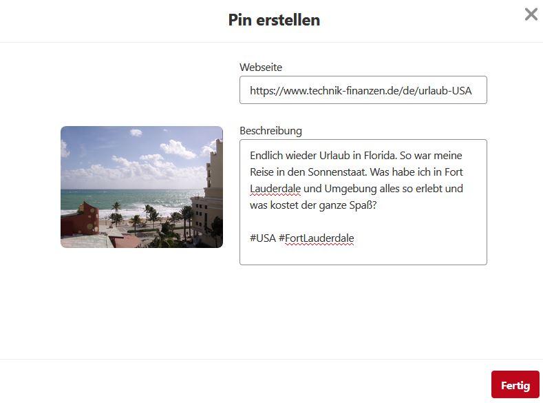Pinterest Pins Manuell erstellen und hochladen. So gehts.