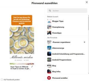 Mit Pinterest Bilder pinnen und Pinnwände erstellen. So gehts