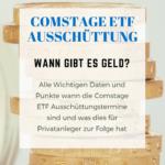 Comstage ETF Ausschüttung – Wann wird gezahlt?