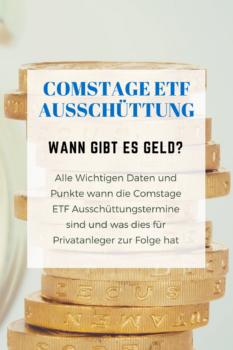 Für ausschütende Comstage ETF Besitzer gibt es ein mal im Jahr eine Auszahlung. Wann genau diese Auszahlung ist und welche Daten man sich merken sollte erfahrt ihr im Artikel.