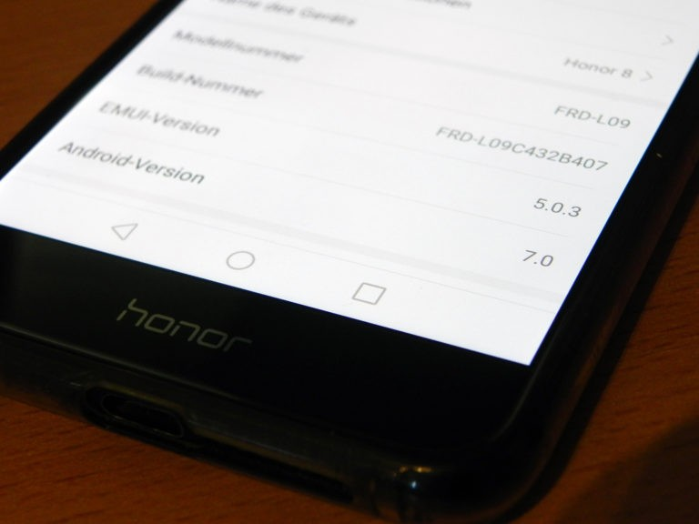 Honor 8 bekommt jetzt Android 8