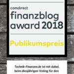 finanzblog award 2018 – ich bin dabei