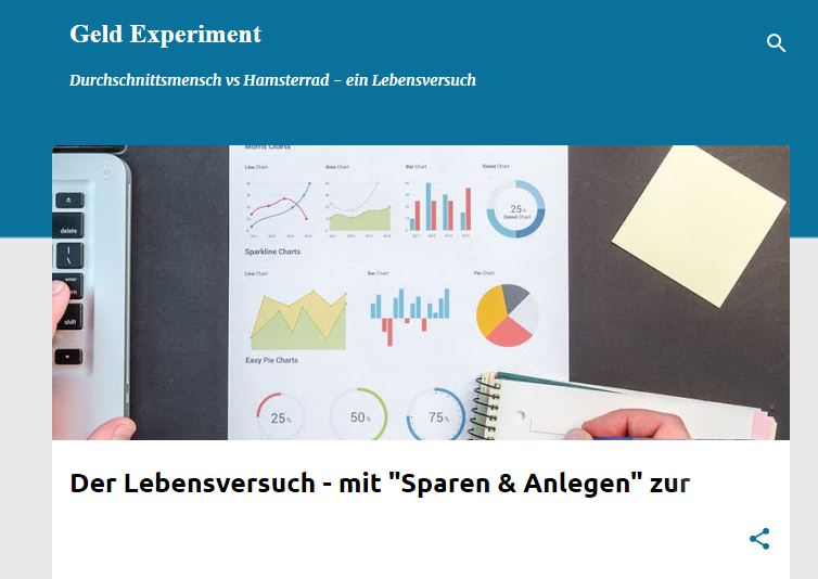 Website des Geld Experiment Blogs