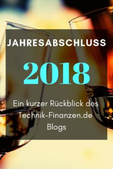 Der Jahresabschluss 2018 steht wieder einmal an. Pünktlich zum Jahreswechsel gibt es wieder ein kleines Resümee des Jahres 2018