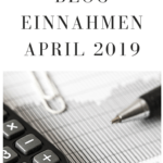 Blog Einnahmen April 2019