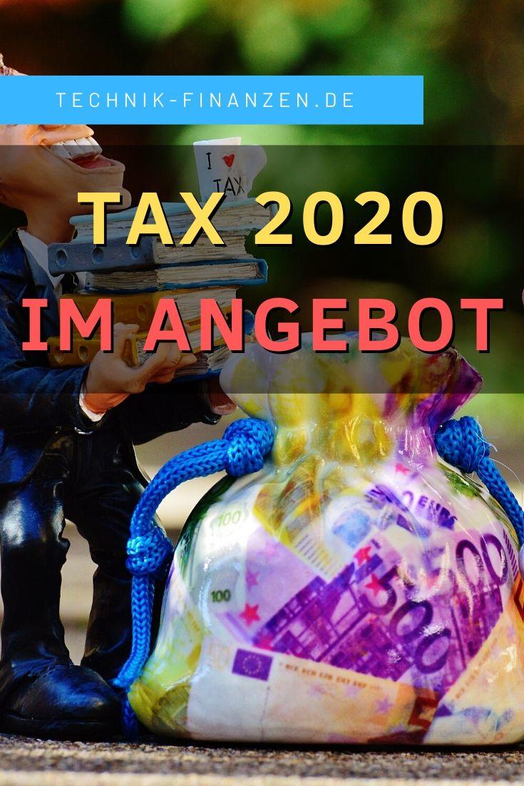 Steuersoftware Tax 2020 im Angebot