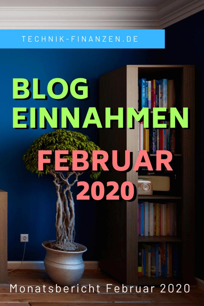 Februar 2020 Blog Einnahmen