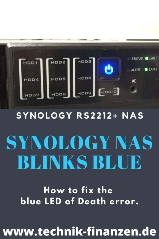 synology nas blinks blue led error